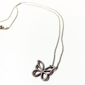 Authentic Tiffany Silver Butterfly Necklace